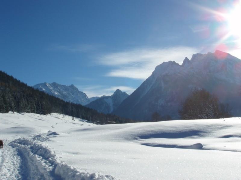 Endlose Winterwanderwege